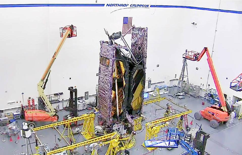 NASA's James Webb Space Telescope is shown in its fully showed configuration.