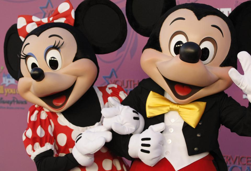 Minnie Mouse and Mickey Mouse