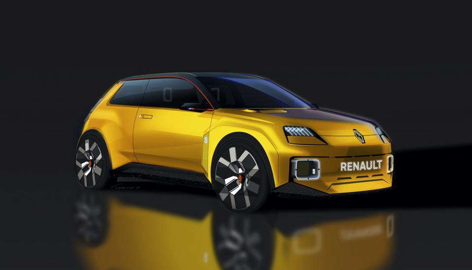 Rendering of the new Renault 5 electric concept car