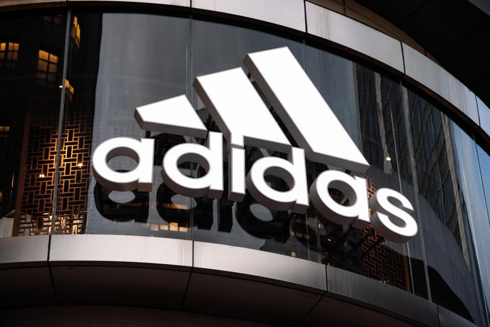 A German multinational sportswear corporation Adidas logo.