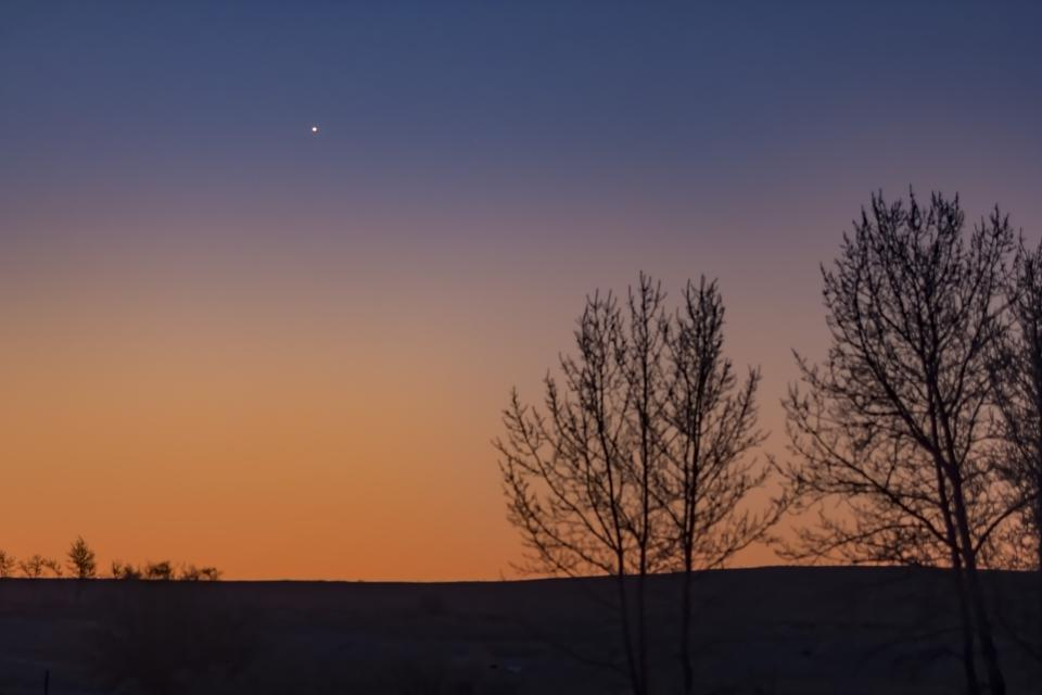 Mercury at greatest western elongation low in the southeast sky on New YearÕs Day morning