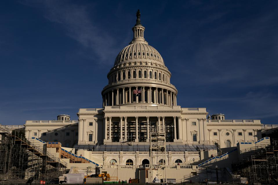 Capitol Prepares For Presidential Inauguration