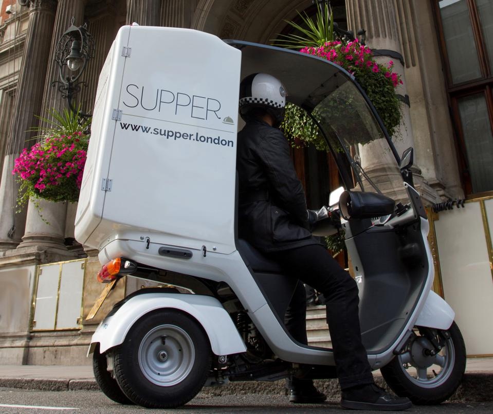 Custom bikes used by the high-end food delivery company Supper