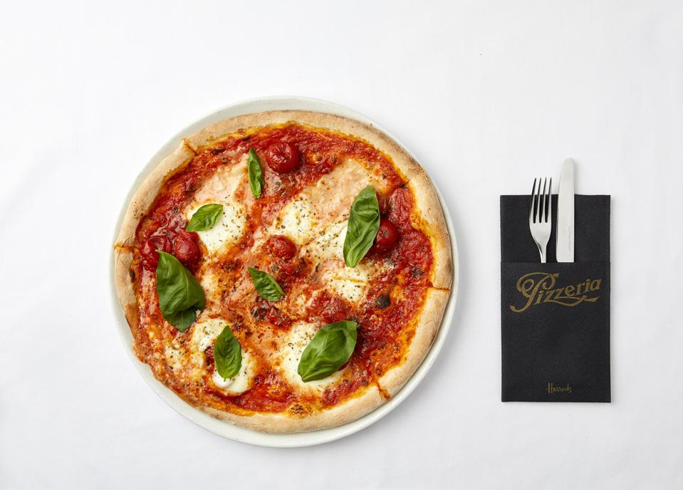 Harrods pizza, available on the delivery app Supper