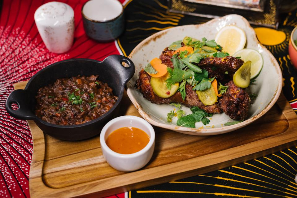 MIAMI, FL - The ″Fried Yard Bird″ at Red Rooster Overtown by Marcus Samuelsson
