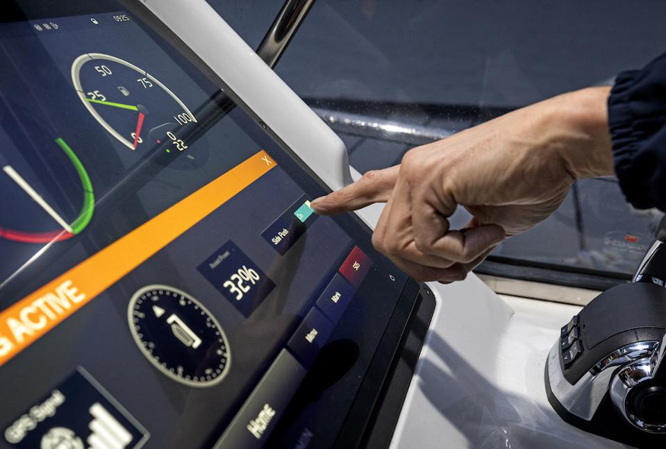 Volvo Penta's fully integrated technology is critical to taking the stress our of docking.