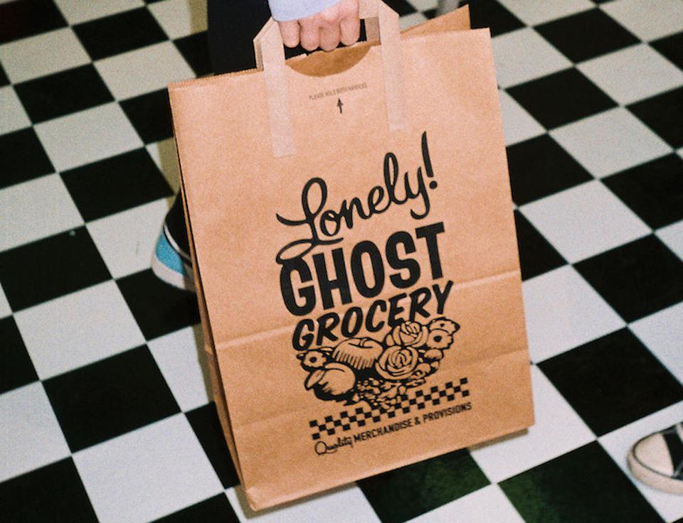 Lonely Ghost shopping bag.