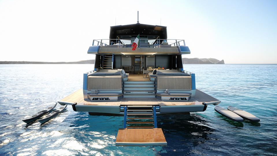 The Wally Yacht WHY200 Beach Club is spectacular.