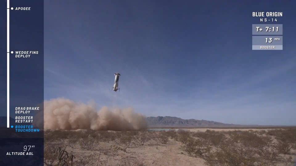 NS-14 booster landing