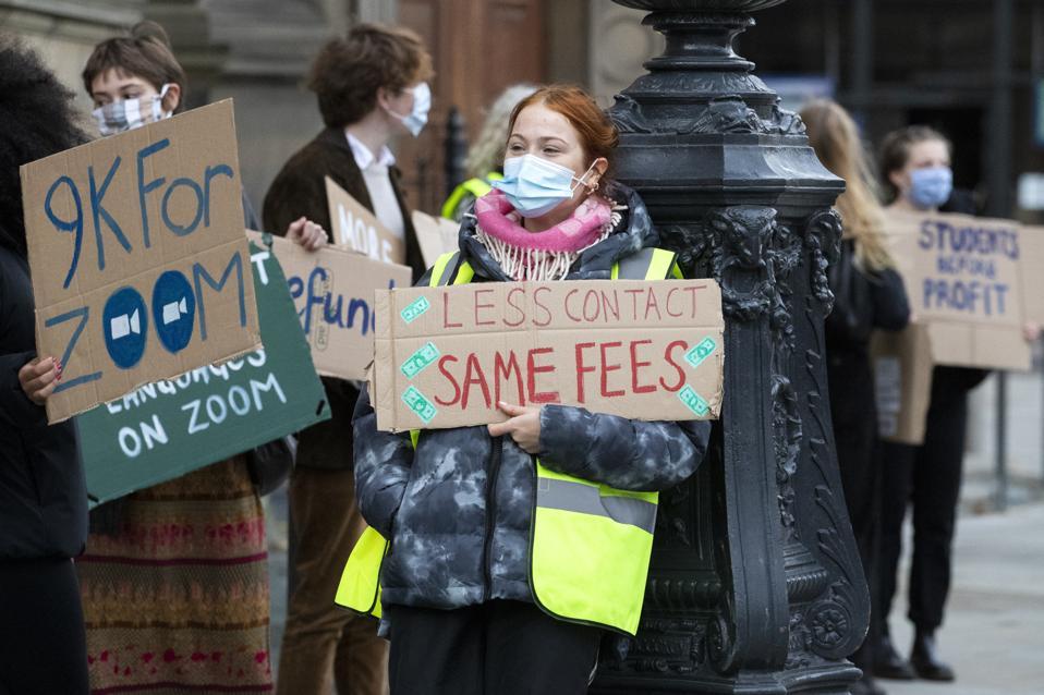 University of Edinburgh student lockdown protest