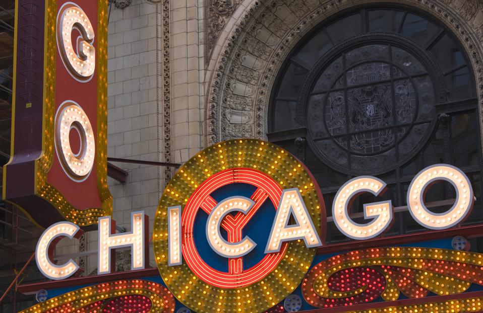 Theater sign, Chicago