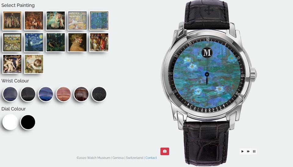 Watch museum, watch configurators