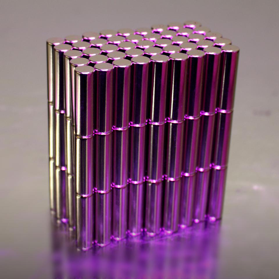 Neodymium Magnets Magenta Hue
