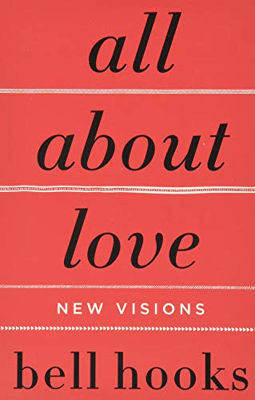 Red cover of Bell Hooks' ″All About Love″ book.