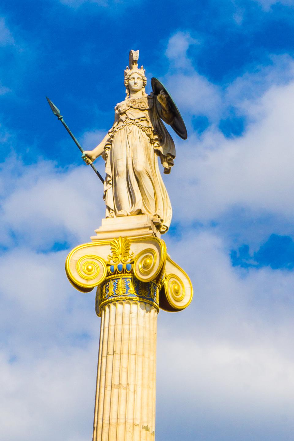 Wisdom, like that found in Wikipedia (usually) is represented by the Greek Goddess, Athena..