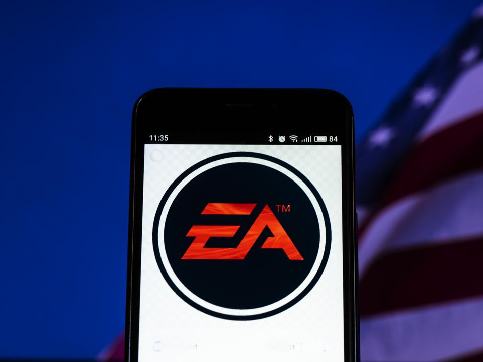 Electronic Arts Inc. logo seen displayed on smart phone.