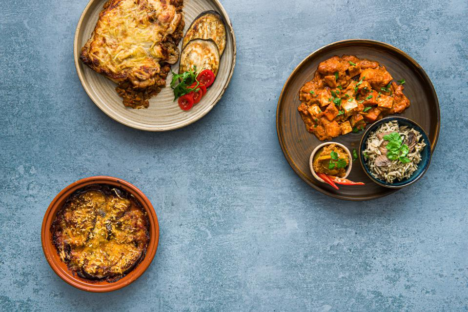 three dishes from Roots Kitchen