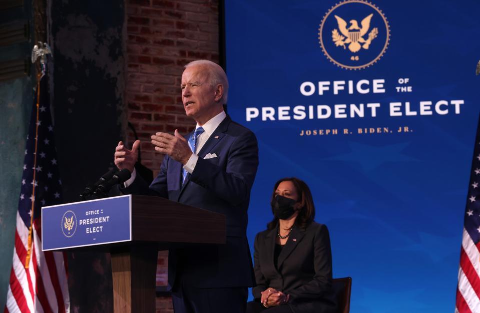 President-Elect Biden presents economic plans to address Covid-19 and economic distress