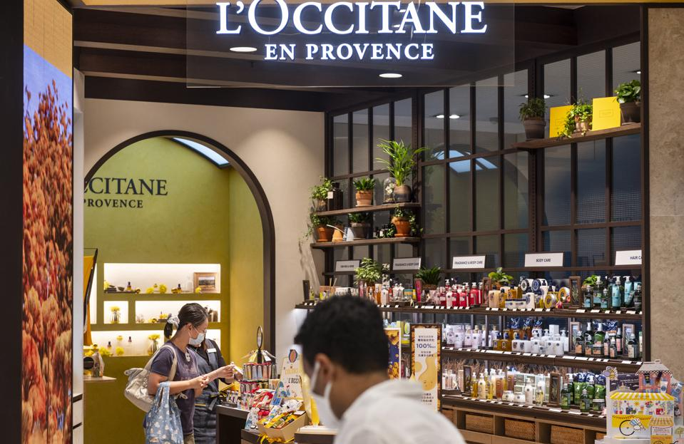 French cosmetics brand L'occitane store seen in Hong Kong.