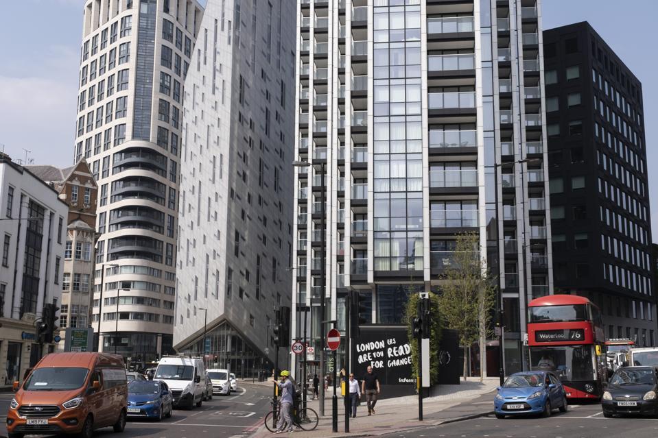 Architectural Optical Illusion In London Shoreditch Tech City
