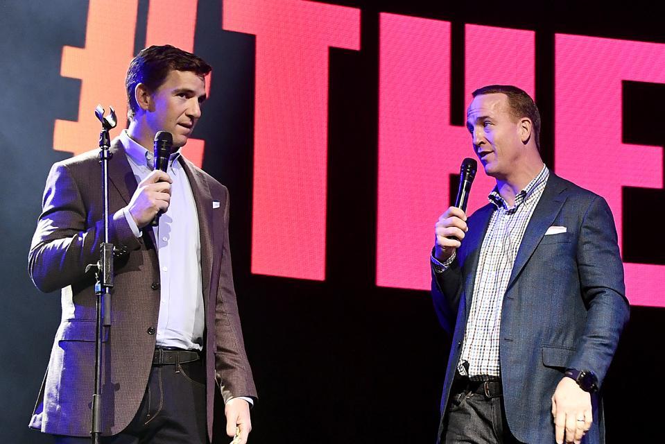 Eli Manning and Peyton Manning @ EA Sports Bowl at Bud Light Super Bowl Music Fest