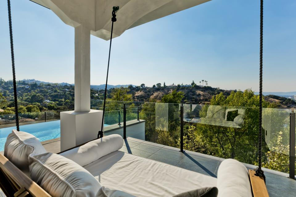 The view from a luxury home in Los Angeles.