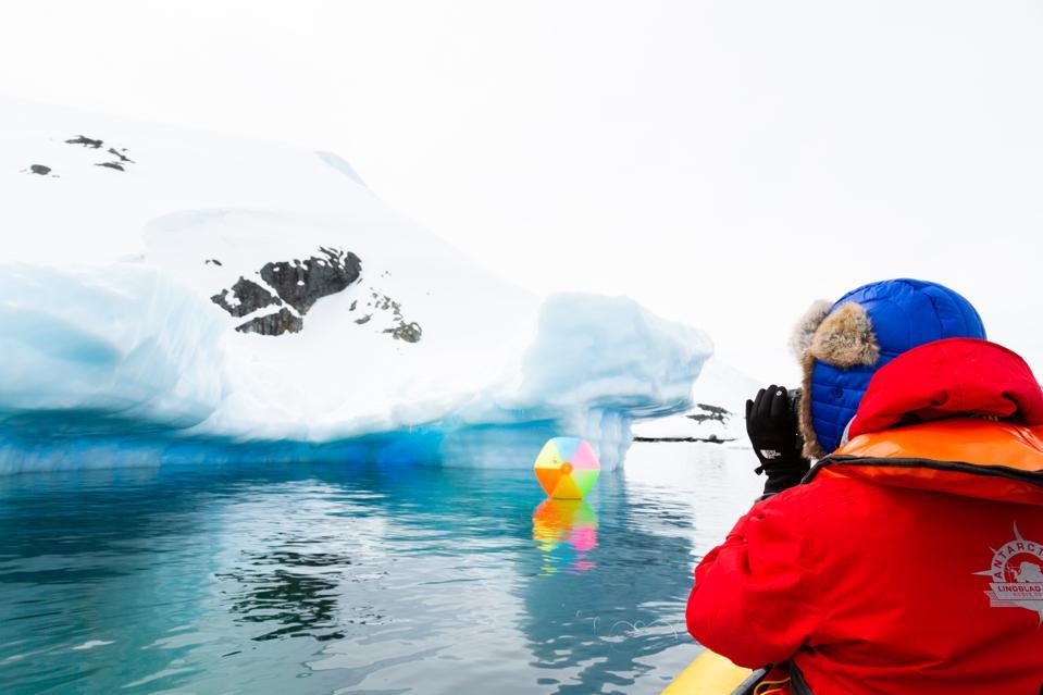 photographer in Antarctica