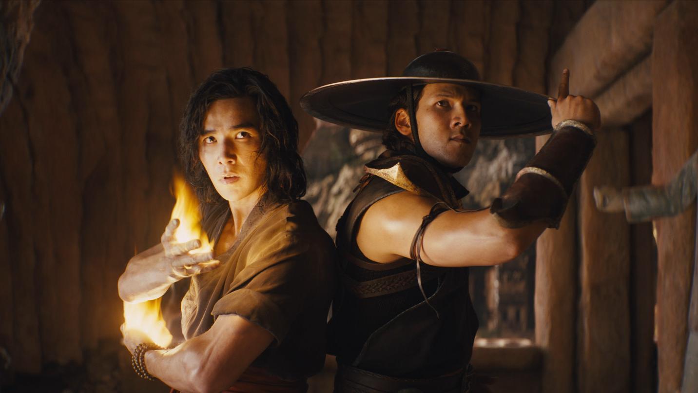 (L-r) LUDI LIN as Liu Kang and MAX HUANG as Kung Lao in 'Mortal Kombat'