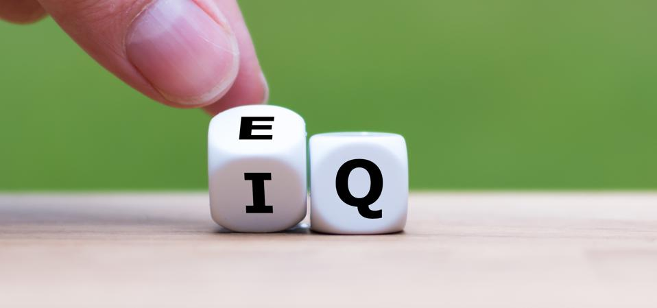 Empathy and EQ are important leadership skills. EQ is shown on the dice in this picture;