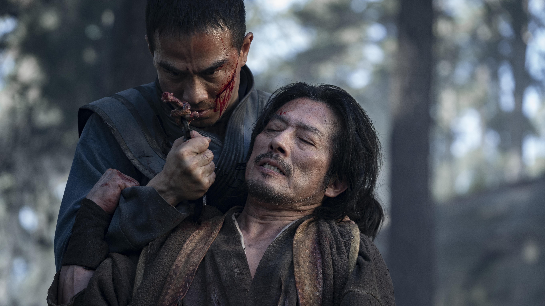 (L-r) JOE TASLIM as Sub-Zero/Bi-Han and HIROYUKI SANADA as Scorpion/Hanzo Hasashi in 'Mortal Kombat'
