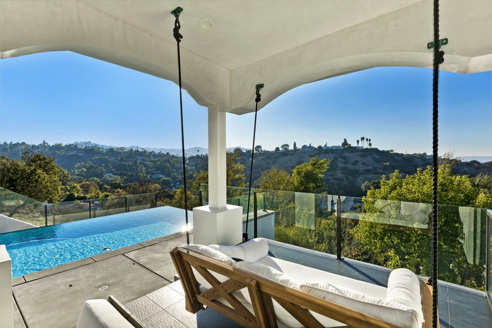 The view from a luxury home in L.A.