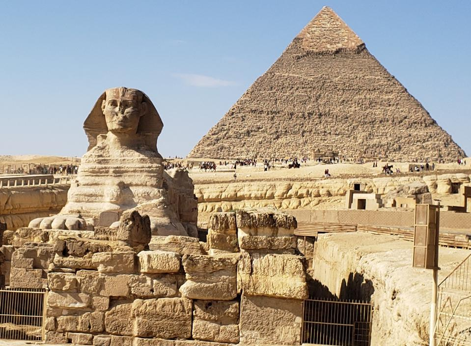 One Pyramid and The Sphinx in Cairo