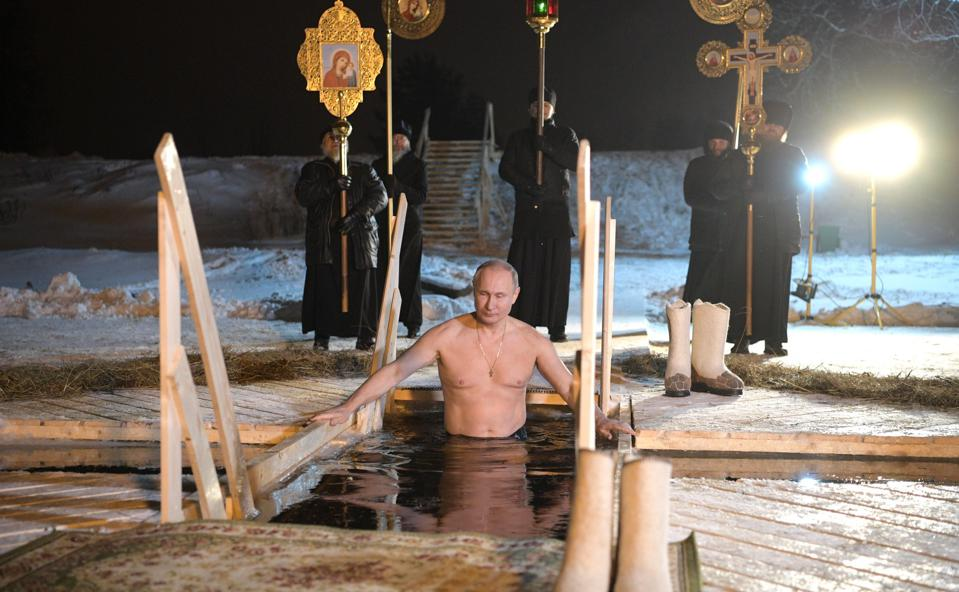 Russian President Putin celebrates Epiphany