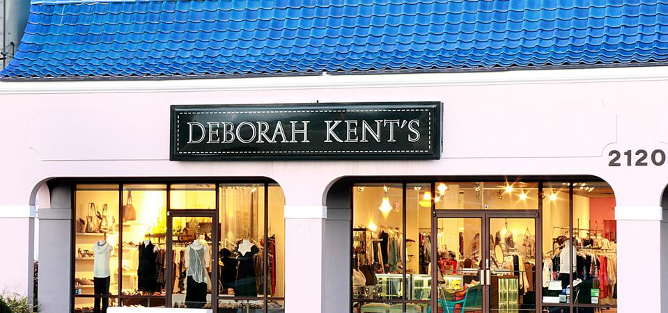 The exterior of the Deborah Kent's clothing store in Tampa, Fl.