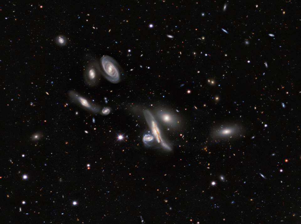 The Copeland Septet, in the constellation of Leo, from the DESI Legacy Imaging Surveys.