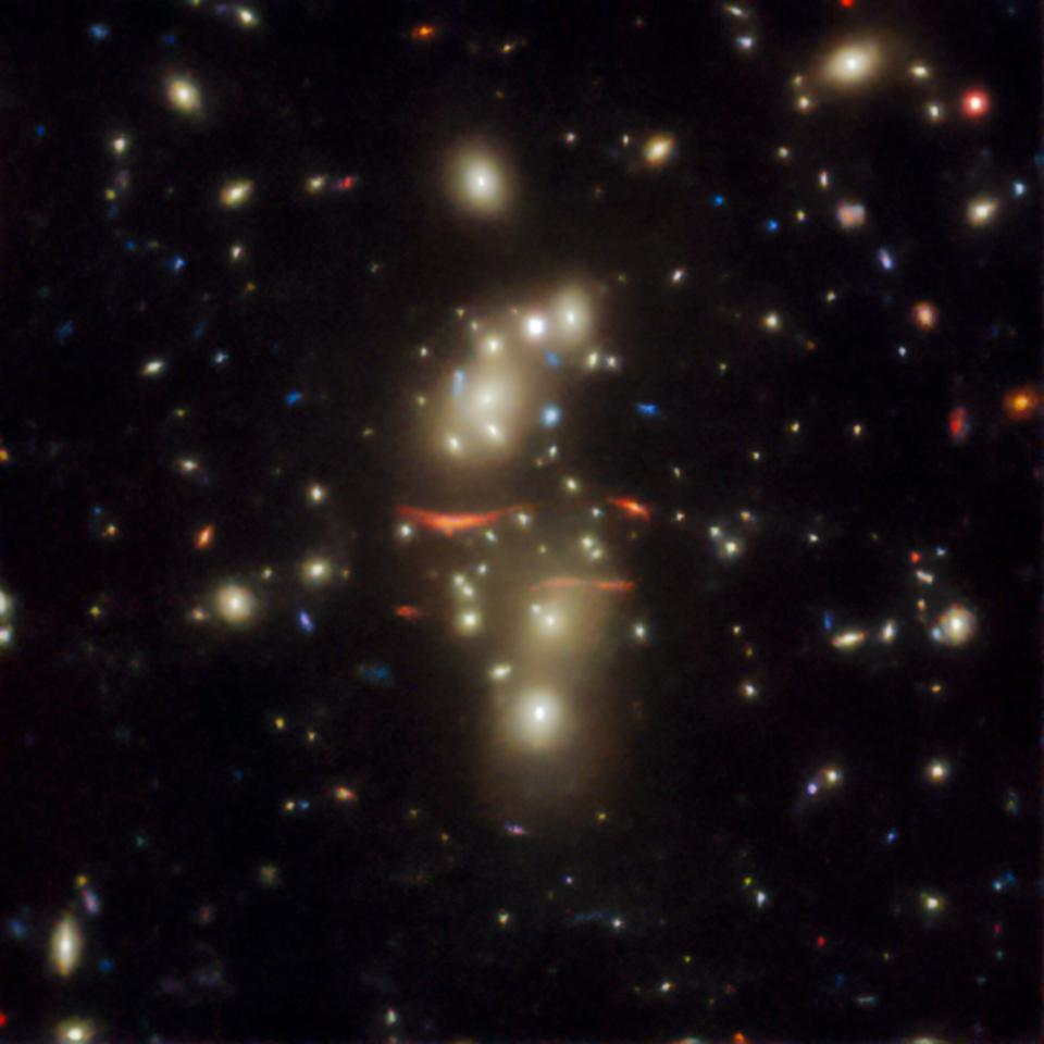 Not every gravitational lens is simple and circular, as this image shows.