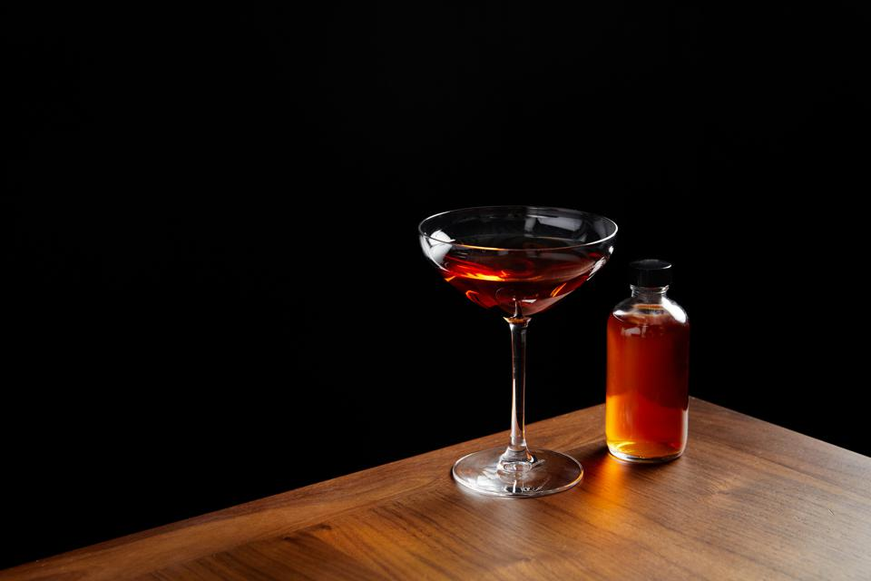 a cocktail glass with a classic cocktail from Intersect by Lexus