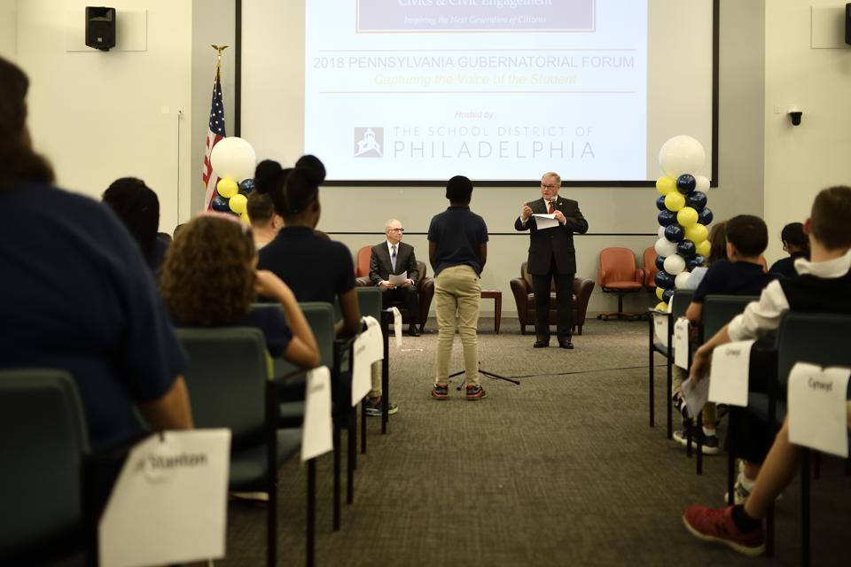 Rendell Center Governor Candidates Forum in Philadelphia