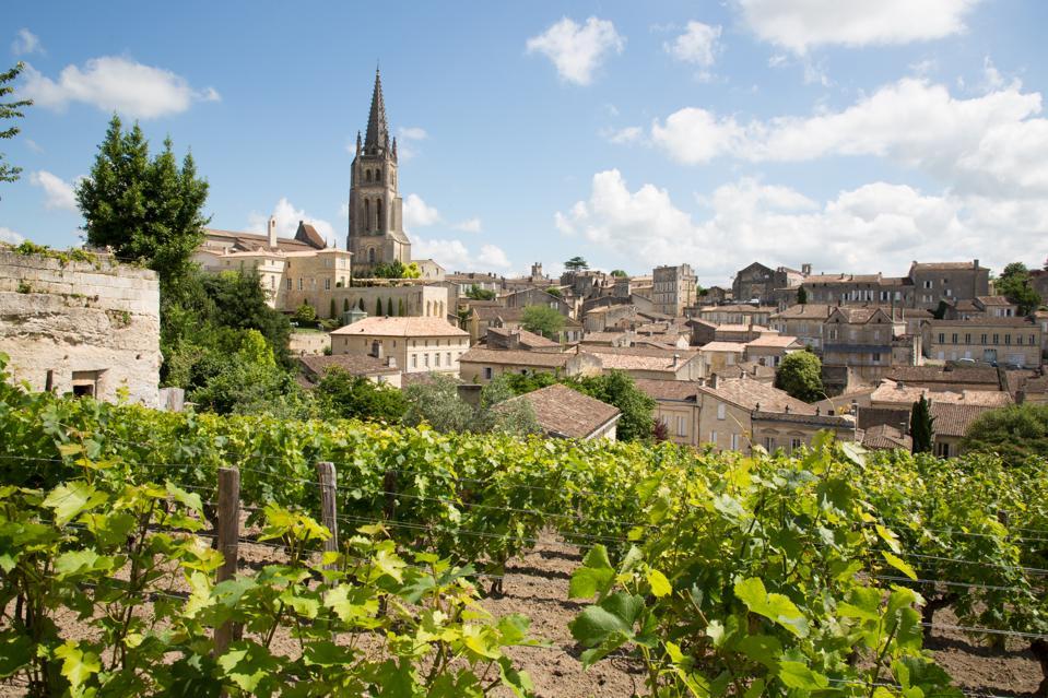 Vineyards at Saint Emilion city center, France