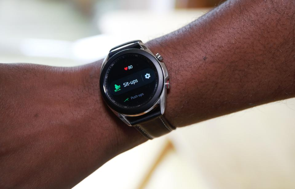 Samsung's Galaxy Watch 3 can track a range of exercises.
