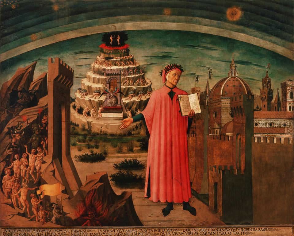 Dante, Allegory of the Divine Comedy and City of Florence by Domenico di Michelino