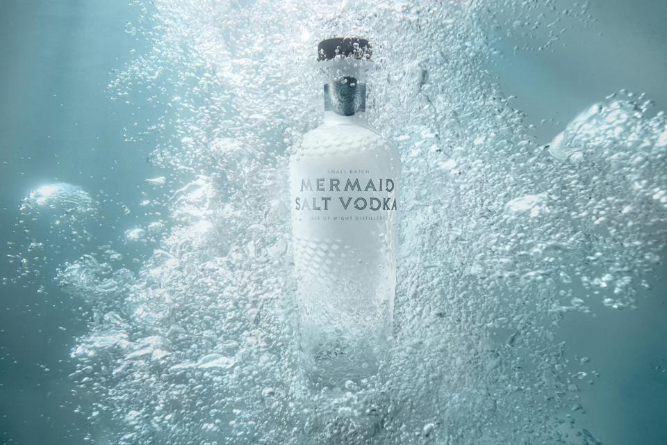 Isle of Wight Distillery's Mermaid Salt Vodka best vodka for a dirty martini