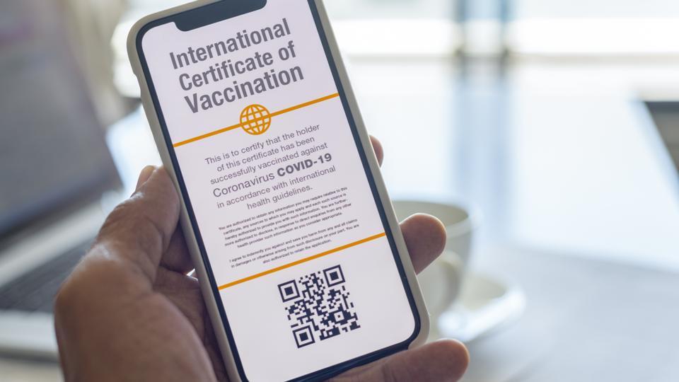 Digital International Certificate of Covid-19 Vaccination.