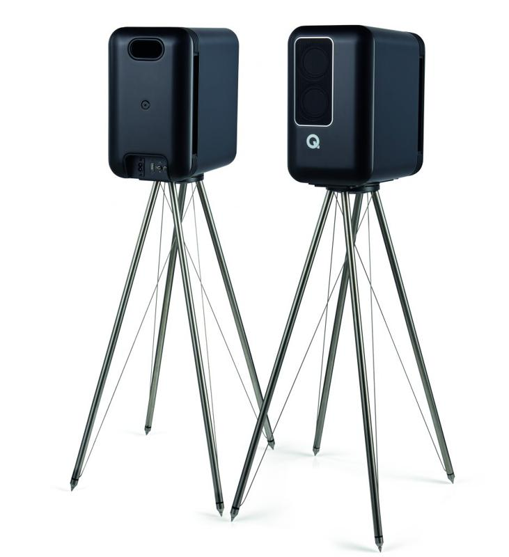 Front and back view of Q Acoustics 200 speakers