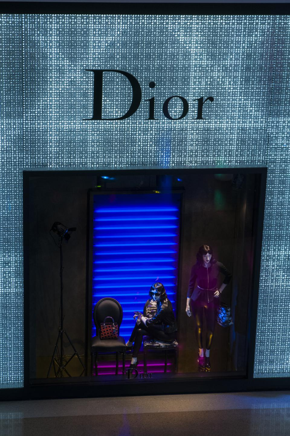 Christian Dior storefront in Vegas