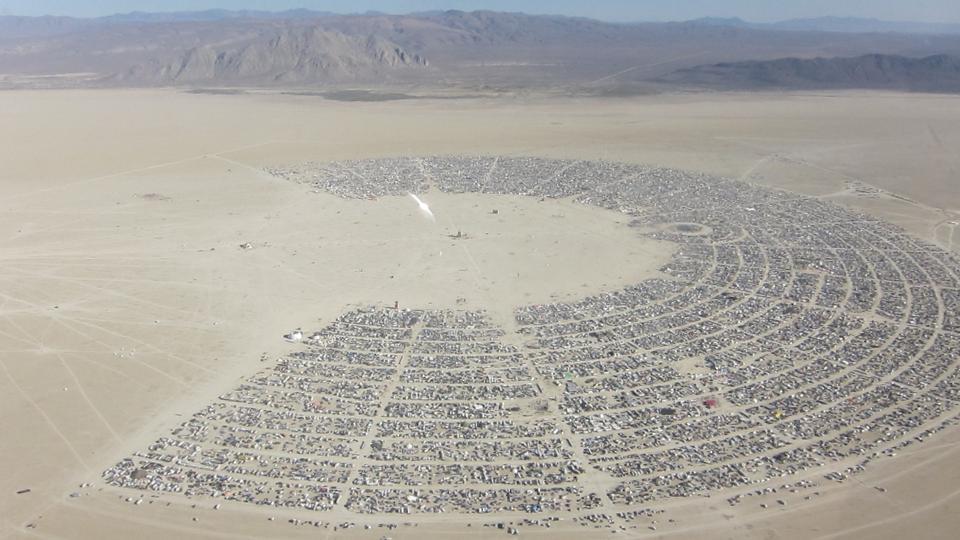Burning Man's C-Shape in 2010