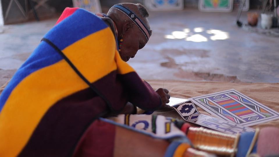 art piece by celebrated South African artist Esther Mahlangu for the Phantom