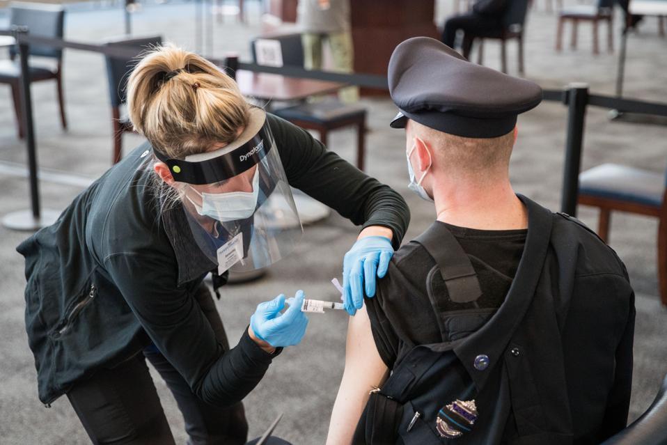 Gillette Stadium In Massachusetts Opens As Mass Vaccination Site