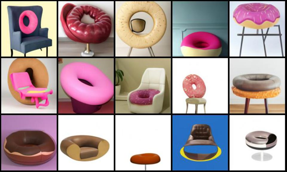 Armchairs in the style of a doughnut