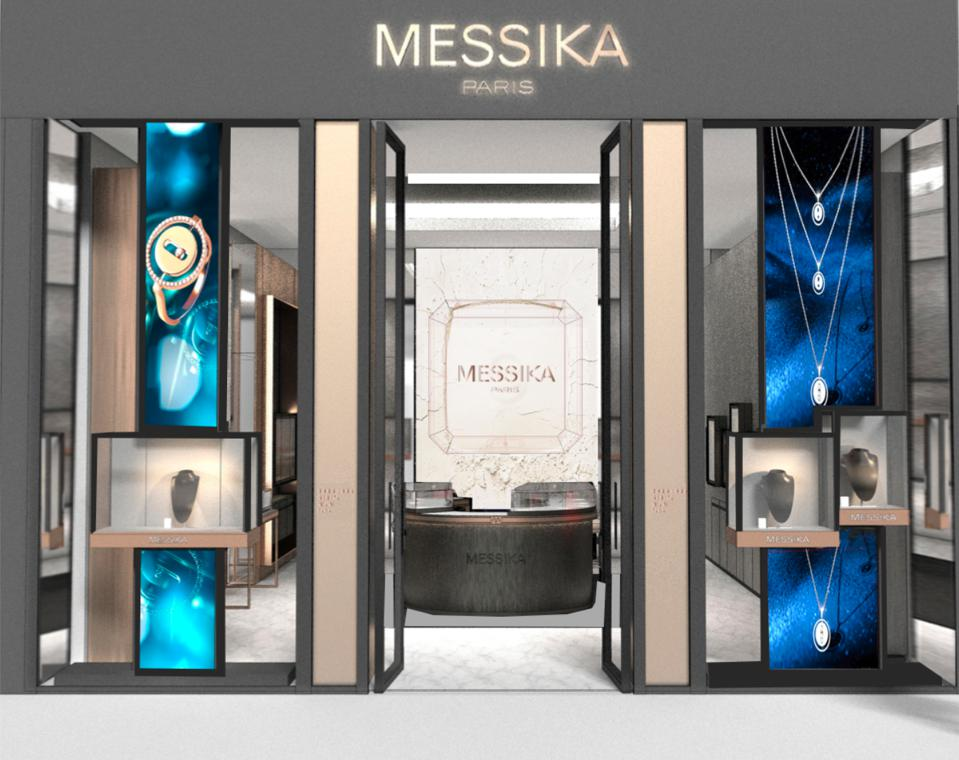 A rendering of the exterior of Messika Paris store in Hudson Yards